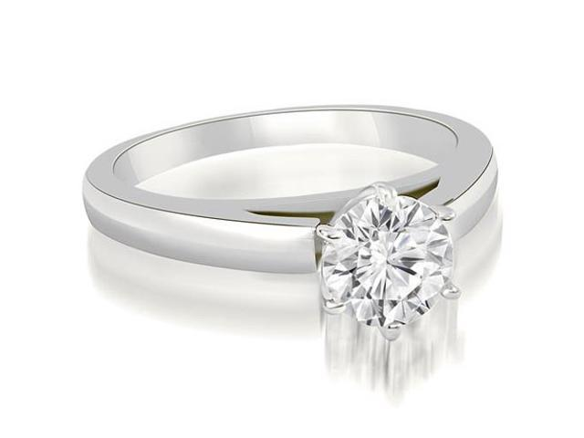 0.75 cttw. Cathedral Solitaire Round Cut Diamond Engagement Ring in Platinum