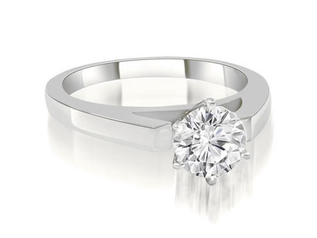1.00 cttw. Cathedral Solitaire Round Diamond Engagement Ring in Platinum