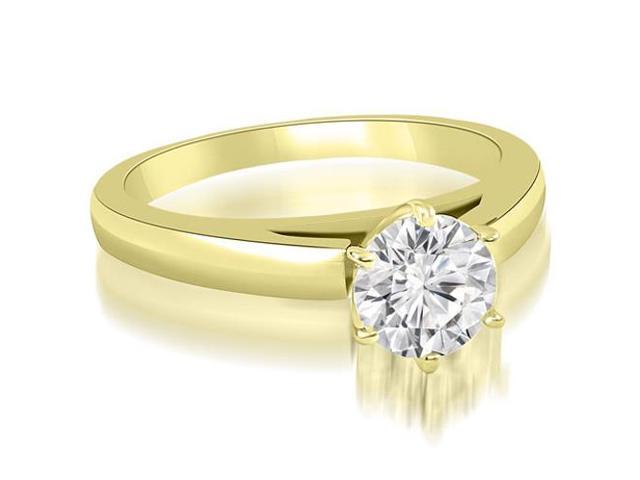 0.50 cttw. Cathedral Solitaire Round Cut Diamond Engagement Ring in 14K Yellow Gold
