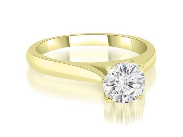 0.35 cttw. Cathedral Solitaire Round Cut Diamond Engagement Ring in 18K Yellow Gold