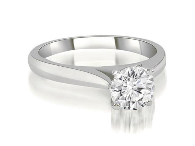 0.45 cttw. Cathedral Solitaire Round Cut Diamond Engagement Ring in 14K White Gold