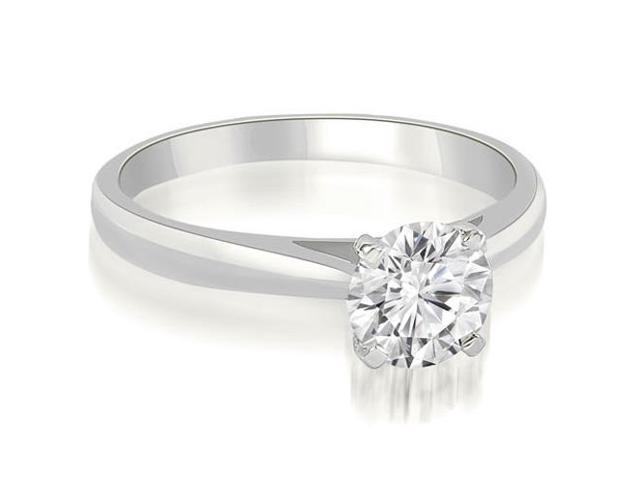 1.00 cttw. Cathedral Solitaire Round Cut Diamond Engagement Ring in 18K White Gold