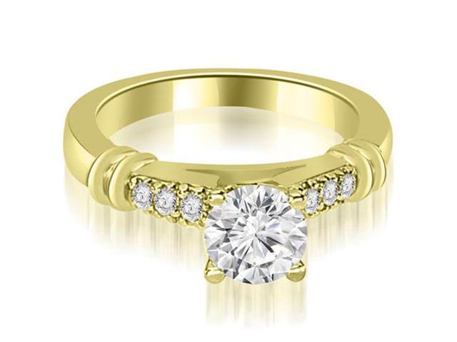 1.15 cttw. Round Cut Diamond Engagement Ring in 14K Yellow Gold