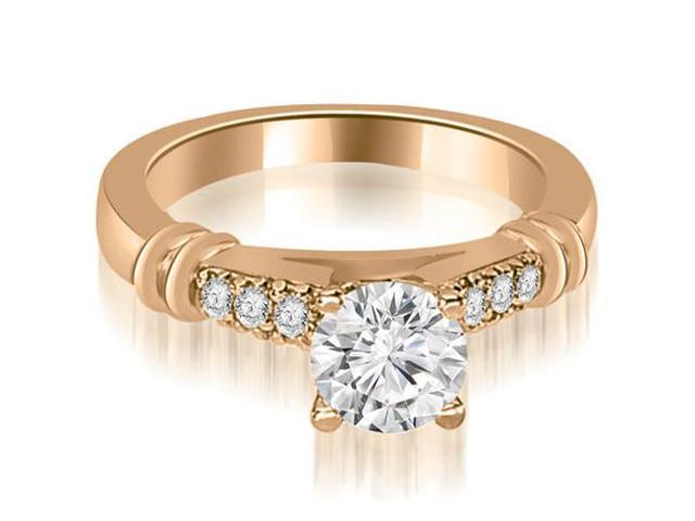 0.60 cttw. Round Cut Diamond Engagement Ring in 14K Rose Gold