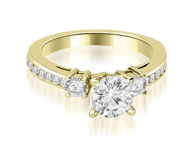 1.60 cttw. Round Cut Diamond Engagement Ring in 18K Yellow Gold