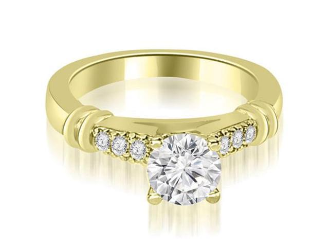 0.50 cttw. Round Cut Diamond Engagement Ring in 18K Yellow Gold