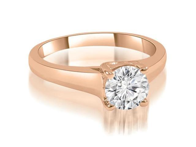 0.35 cttw. Trellis Round Cut Diamond Engagement Ring in 18K Rose Gold