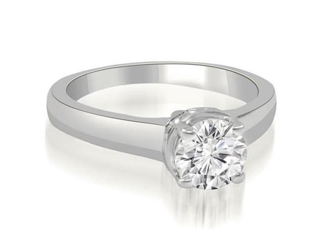 0.45 cttw. Lucida Round Cut Diamond Solitaire Engagement Ring in 14K White Gold