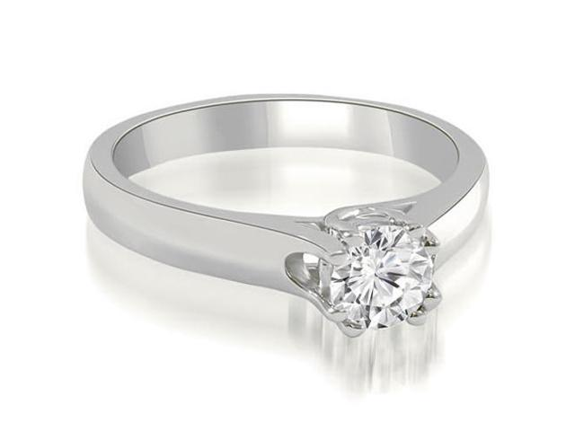 0.75 cttw. Lucida Round Cut Solitaire Diamond Engagement Ring in 14K White Gold