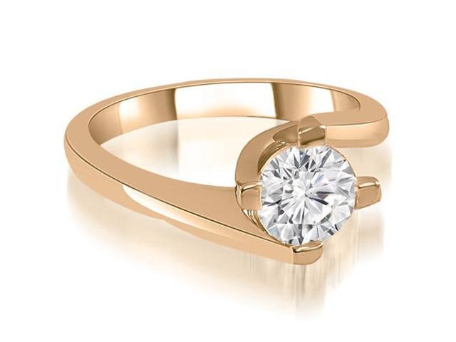 0.50 cttw. Solitaire Round Cut Diamond Engagement Ring in 14K Rose Gold