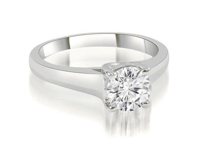 0.45 cttw. Trellis Round Cut Diamond Engagement Ring in 18K White Gold