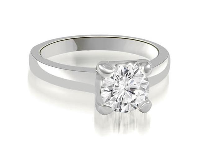 1.00 cttw. 4-Prong Solitaire Round Cut Diamond Engagement Ring in 14K White Gold