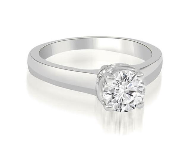 0.75 cttw. Lucida Round Cut Diamond Solitaire Engagement Ring in 18K White Gold