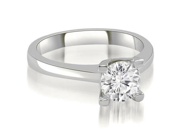 0.35 cttw. Classic Solitaire Round Cut Diamond Engagement Ring in 14K White Gold