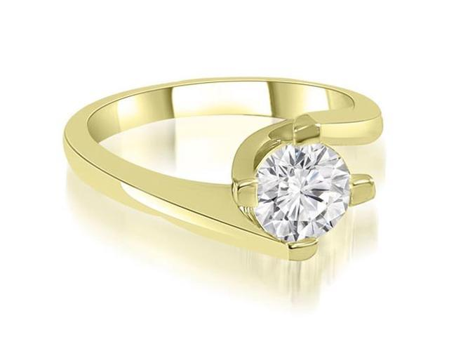 0.45 cttw. Solitaire Round Cut Diamond Engagement Ring in 18K Yellow Gold