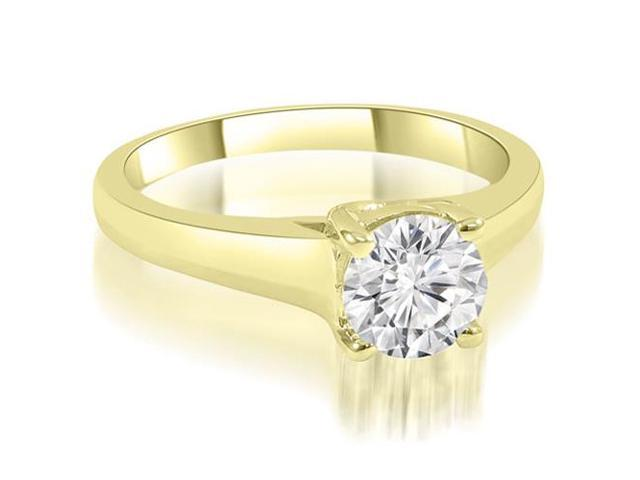 0.50 cttw. Trellis Round Cut Diamond Engagement Ring in 18K Yellow Gold