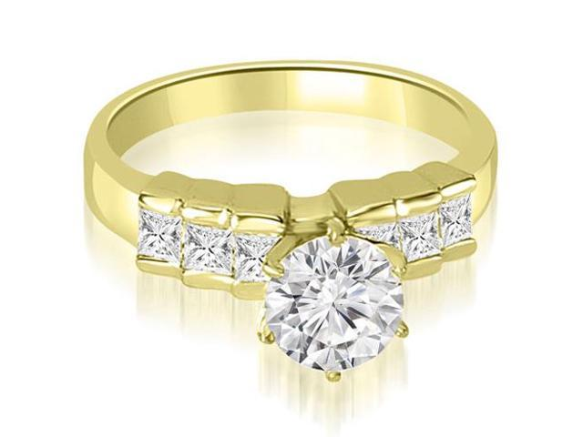 1.60 cttw. Princess Cut Diamond Engagement Ring in 14K Yellow Gold