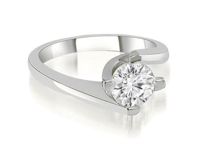 0.75 cttw. Solitaire Round Cut Diamond Engagement Ring in Platinum