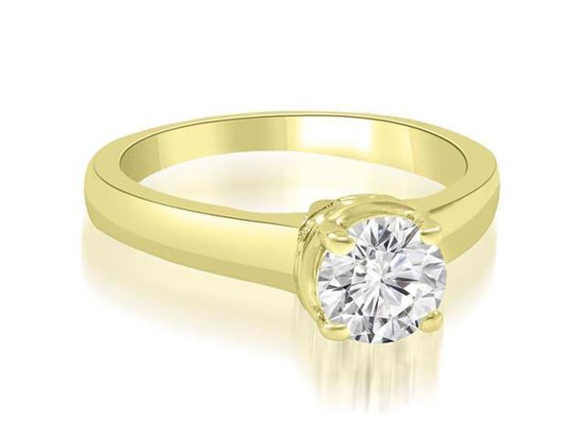 0.50 cttw. Lucida Round Cut Diamond Solitaire Engagement Ring in 14K Yellow Gold