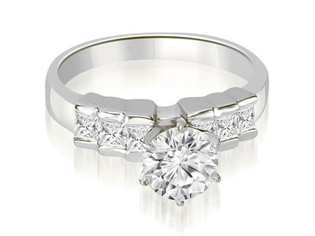 1.10 cttw. Princess Cut Diamond Engagement Ring in Platinum