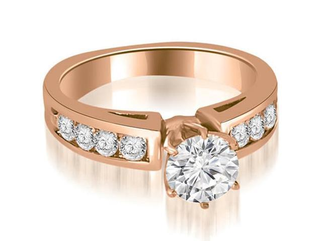 1.40 cttw. Round Cut Diamond Engagement Ring in 18K Rose Gold