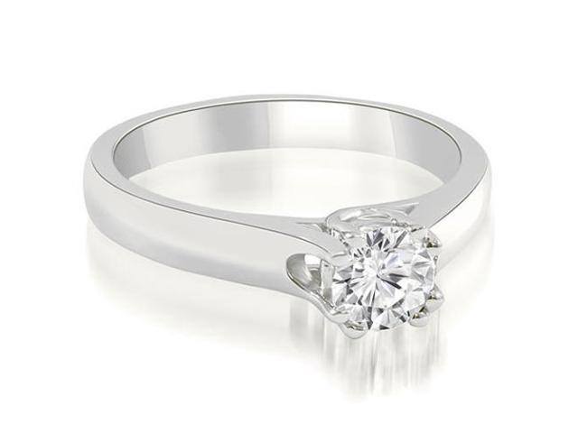 1.00 cttw. Lucida Round Cut Solitaire Diamond Engagement Ring in Platinum