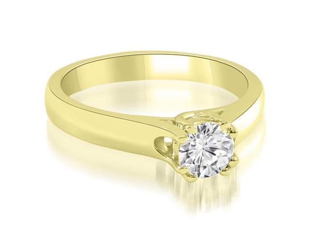 0.45 cttw. Lucida Round Cut Solitaire Diamond Engagement Ring in 14K Yellow Gold