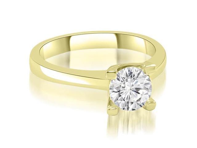 0.50 cttw. Classic Solitaire Round Cut Diamond Engagement Ring in 18K Yellow Gold