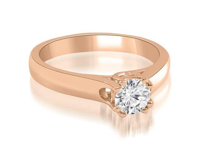 0.50 cttw. Lucida Round Cut Solitaire Diamond Engagement Ring in 18K Rose Gold