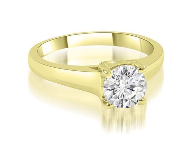 0.75 cttw. Trellis Round Cut Diamond Engagement Ring in 14K Yellow Gold