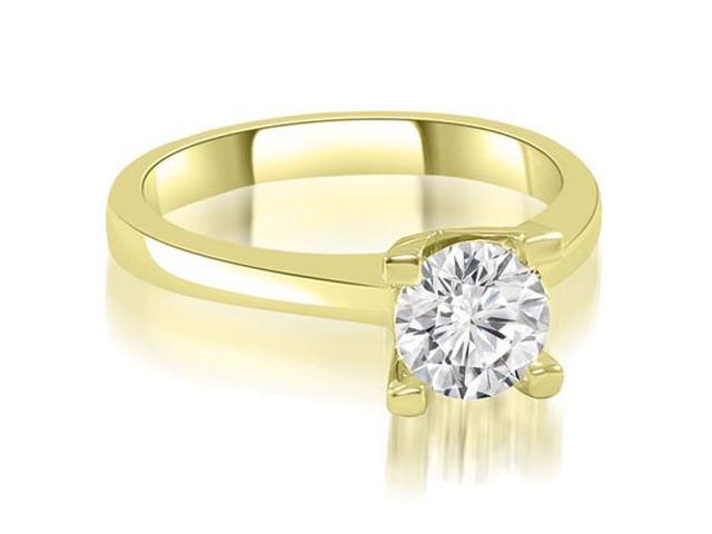 0.75 cttw. Classic Solitaire Round Cut Diamond Engagement Ring in 14K Yellow Gold