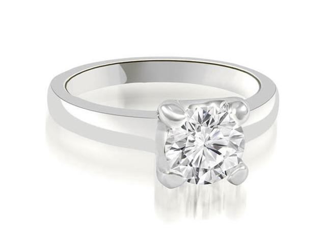0.75 cttw. 4-Prong Solitaire Round Cut Diamond Engagement Ring in Platinum