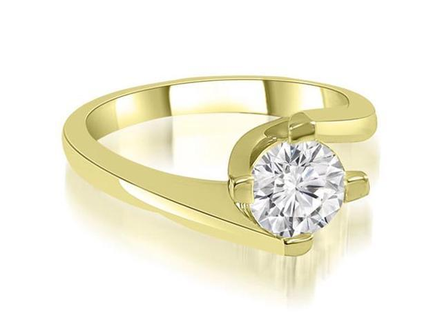 0.75 cttw. Solitaire Round Cut Diamond Engagement Ring in 14K Yellow Gold