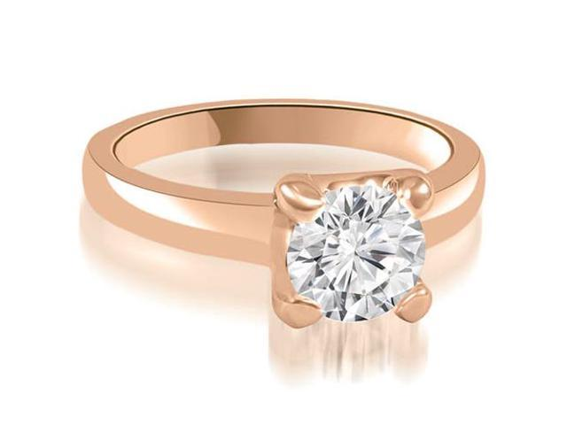 1.00 cttw. 4-Prong Solitaire Round Cut Diamond Engagement Ring in 18K Rose Gold