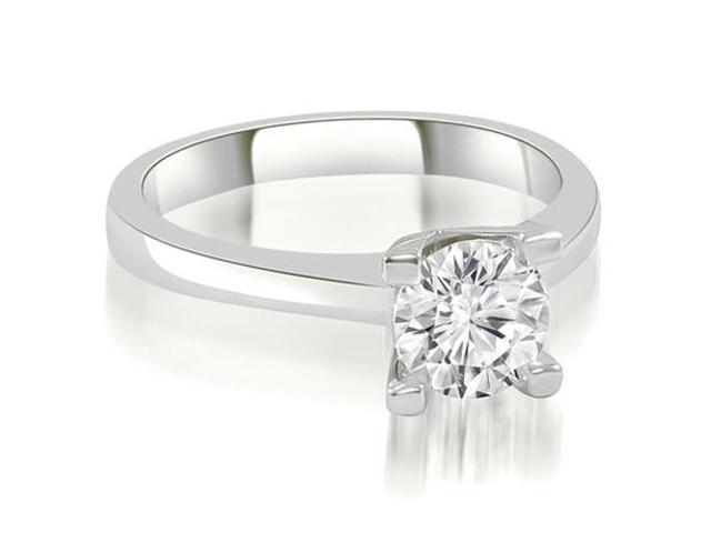 0.50 cttw. Classic Solitaire Round Cut Diamond Engagement Ring in Platinum