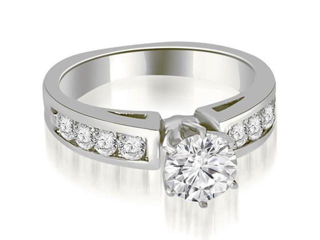 1.40 cttw. Round Cut Diamond Engagement Ring in 18K White Gold