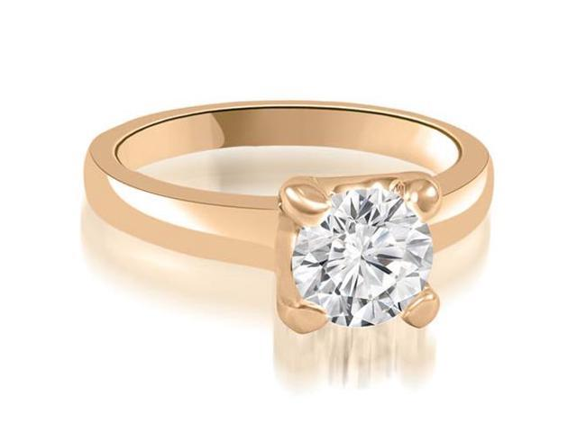 0.35 cttw. 4-Prong Solitaire Round Cut Diamond Engagement Ring in 14K Rose Gold