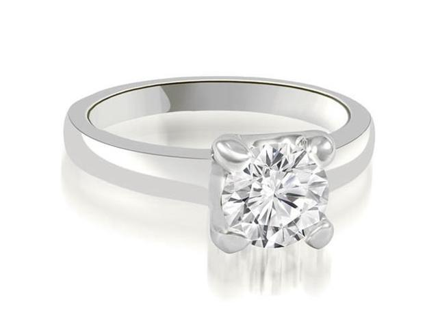 0.45 cttw. 4-Prong Solitaire Round Cut Diamond Engagement Ring in 18K White Gold