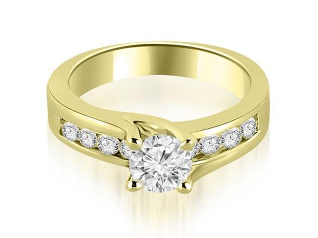 1.30 cttw. Round Cut Channel Engagement Diamond Ring in 18K Yellow Gold