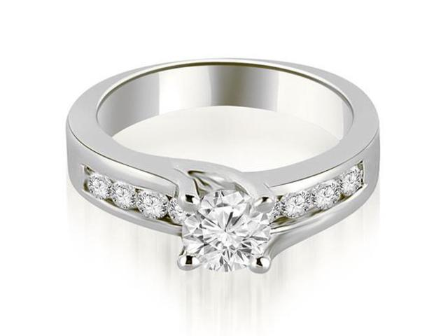 1.05 cttw. Round Cut Channel Engagement Diamond Ring in Platinum