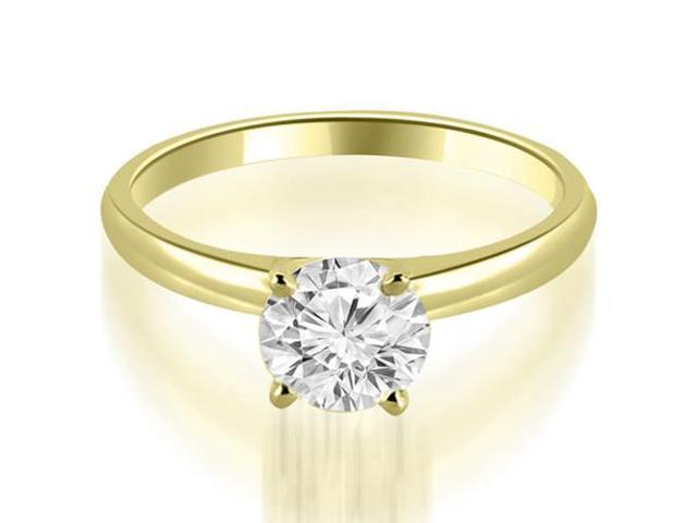 0.45 cttw. Four Prong Classic Round Cut Solitaire Diamond Ring in 18K Yellow Gold