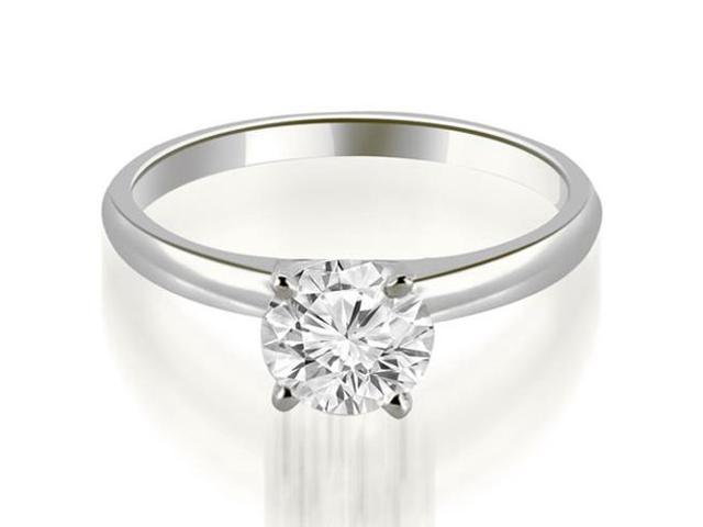 0.75 cttw. Four Prong Classic Round Cut Solitaire Diamond Ring in Platinum