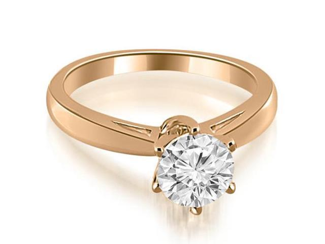 1.00 cttw. Solitaire six Prong Diamond Engagement Ring in 14K Rose Gold