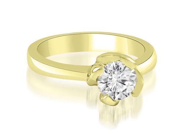 0.45 cttw. Twisted Prong Solitaire Diamond Engagement Ring in 14K Yellow Gold