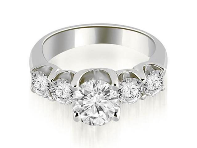 1.75 cttw. Five Stone Floating Round Cut Diamond Engagement Ring in 18K White Gold
