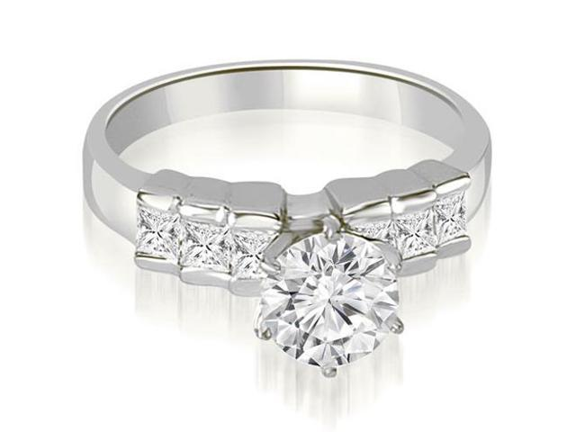 1.60 cttw. Princess Cut Diamond Engagement Ring in 18K White Gold