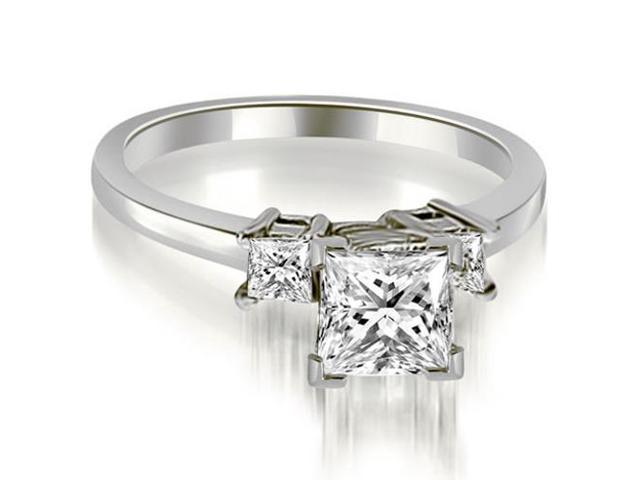 1.35 cttw. Princess Cut Diamond Engagement Ring in 18K White Gold