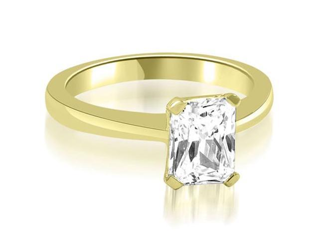 0.50 cttw. Solitaire Princess Cut Diamond Engagement Ring in 14K Yellow Gold