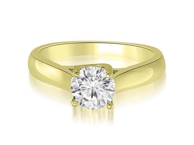 0.75 cttw. Lucida Solitaire Round Cut Diamond Engagement Ring in 14K Yellow Gold