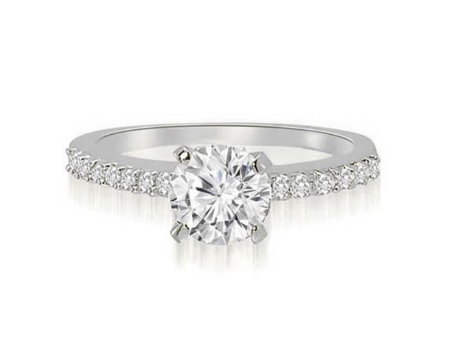 0.65 cttw. Round Cut Diamond Engagement Ring in 18K White Gold (SI2, H-I)